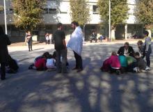 Poligonska aktivnost sa studentima iz Belgije